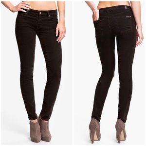 7FAM Brown Skinny Corduroy Pants